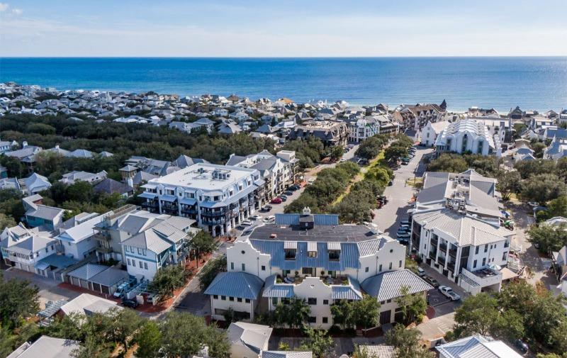 Downtown Rosemary Beach aerial view October 2020