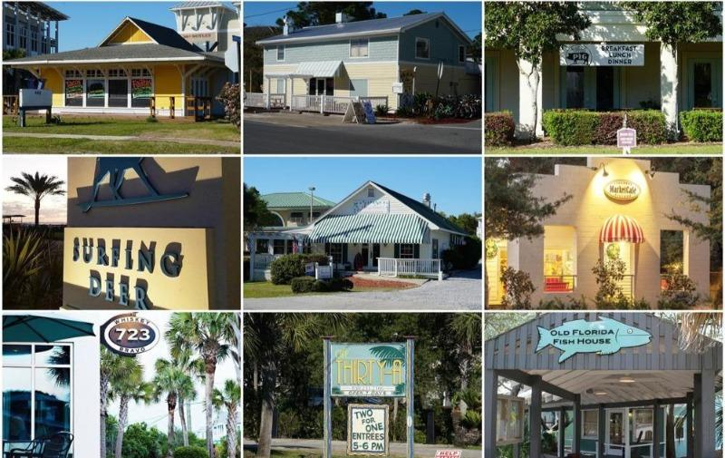 Surfing Deer, Perfect Pig, Old Florida Fish House, Angelina's Seagrove Beach Restaurant Photo Montage