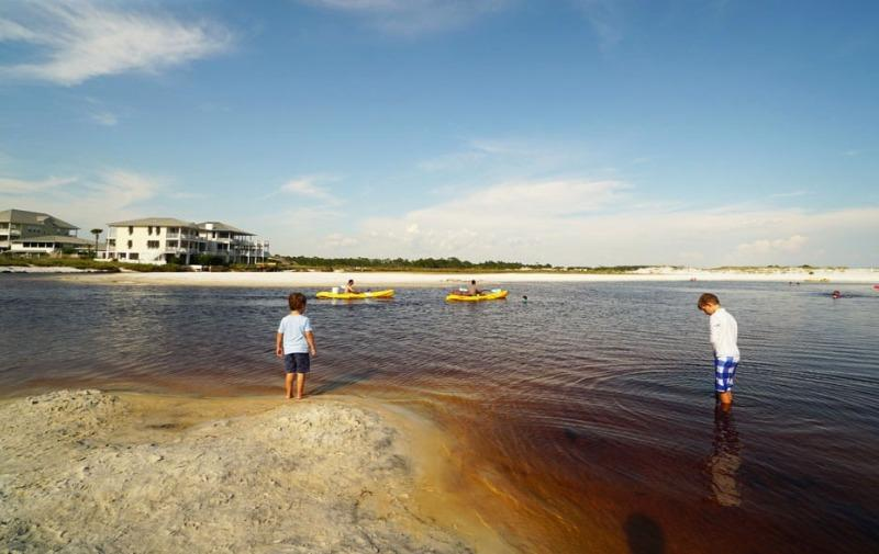 Kayaking Western Lake into Grayton Beach and Gulf Of Mexico