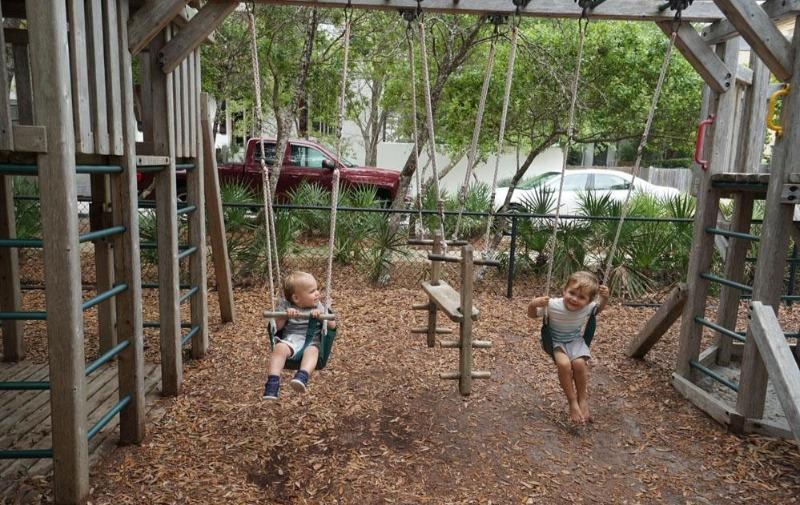 Kids love the playground in Rosemary Beach