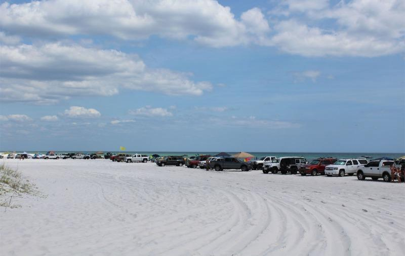 Permitted Vehicles can drive right onto Grayton Beach