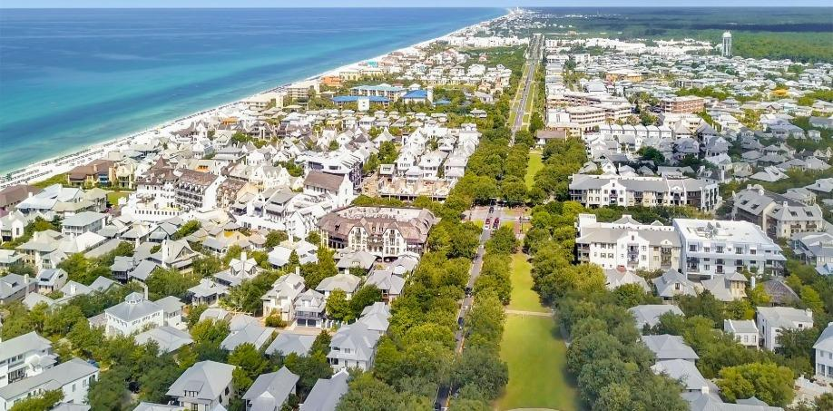 Rosemary Beach Community Aerial view 2020