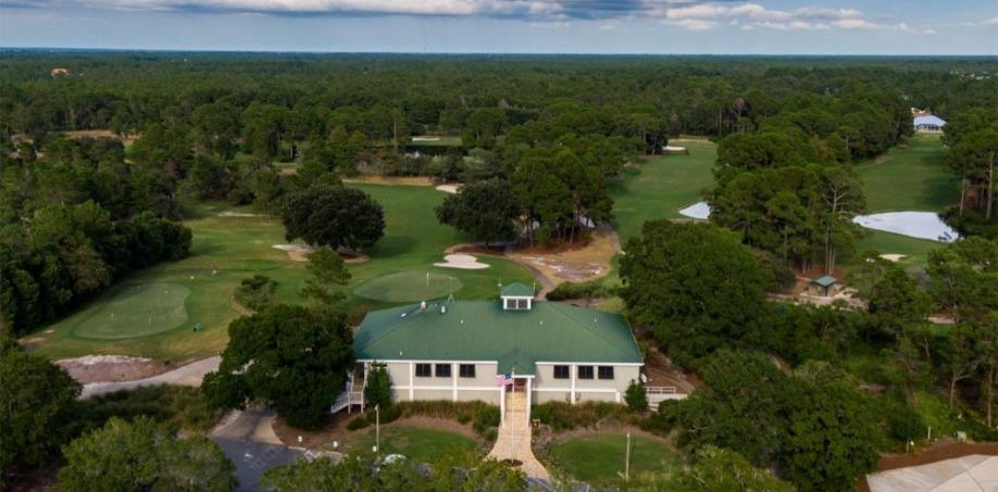 Santa Rosa Golf Club House Aerial View